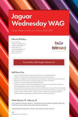 Jaguar Wednesday WAG