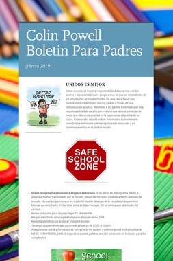 Colin Powell Boletin Para Padres
