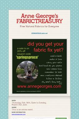 Anne George's FABRICTREASURY