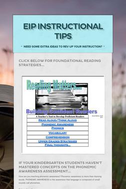 EIP Instructional Tips