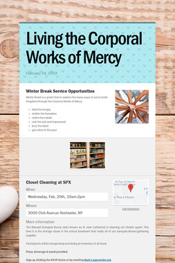 Living the Corporal Works of Mercy