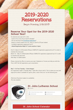 2019-2020 Reservations