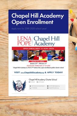 Chapel Hill Academy Open Enrollment
