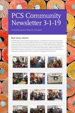 PCS Community Newsletter 3-1-19