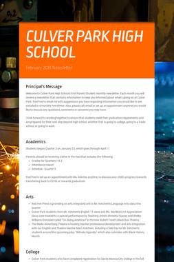 CULVER PARK HIGH SCHOOL