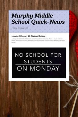 Murphy Middle School Quick-News