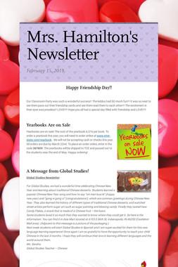 Mrs. Hamilton's Newsletter