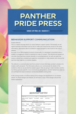 Panther Pride Press
