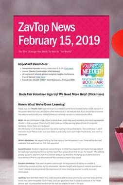 ZavTop News February 15, 2019