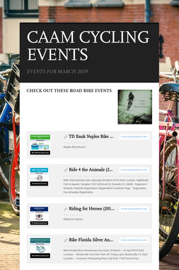 CAAM CYCLING EVENTS