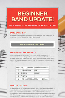 Beginner Band Update!