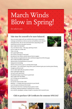 March Winds Blow in Spring!