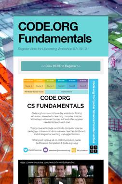 CODE.ORG Fundamentals