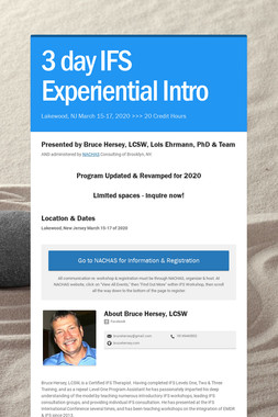 3 day IFS Experiential Intro