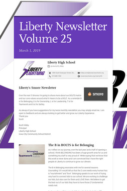 Liberty Newsletter Volume 25