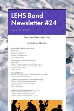 LEHS Band Newsletter #24