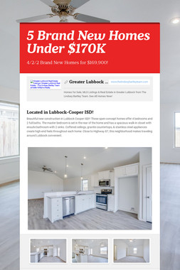 5 Brand New Homes Under $170K