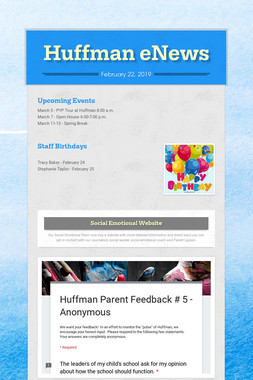 Huffman eNews