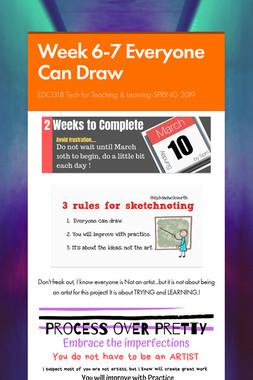 Week 6-7 Everyone Can Draw