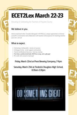 ECET2Lex March 22-23