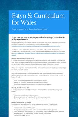 Estyn & Curriculum for Wales