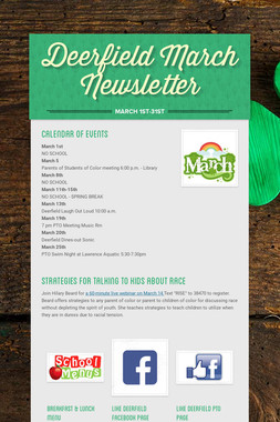 Deerfield March Newsletter