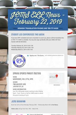 JCMS ELL News - February 22, 2019