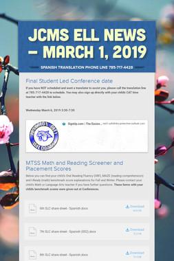 JCMS ELL News - March 1, 2019