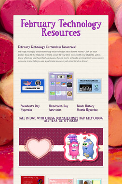 February Technology Resources