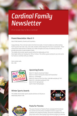 Cardinal Family Newsletter