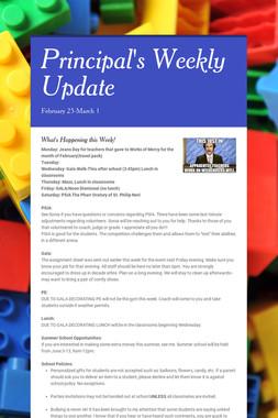 Principal's Weekly Update