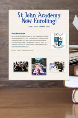 St John Academy Now Enrolling!