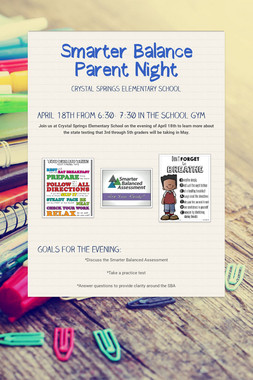 Smarter Balance Parent Night