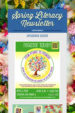 Spring Literacy Newsletter