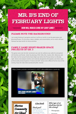 Mr. B's End of February Lights