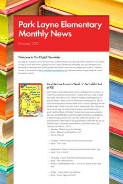 Park Layne Elementary Monthly News