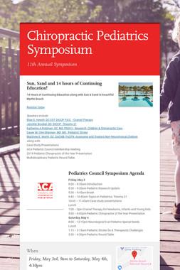 Chiropractic Pediatrics Symposium