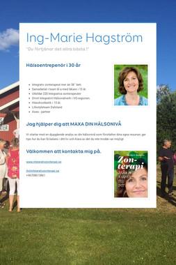Ing-Marie Hagström