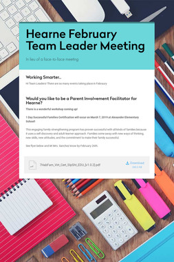 Hearne February Team Leader Meeting