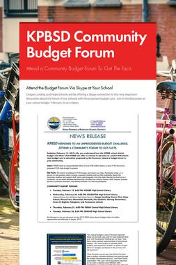 KPBSD Community Budget Forum