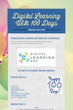 Digital Learning With 100 Days