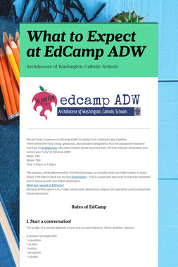 What to Expect at EdCamp ADW