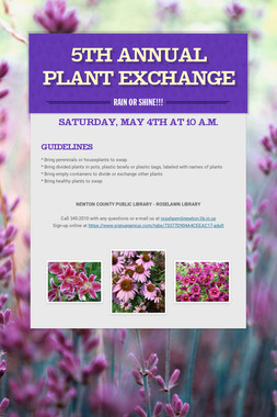 5th Annual Plant Exchange