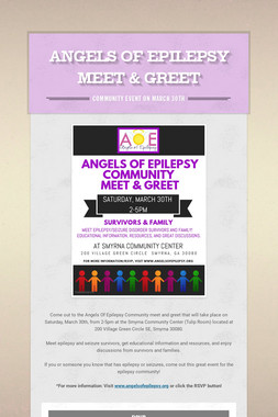 Angels Of Epilepsy Meet & Greet