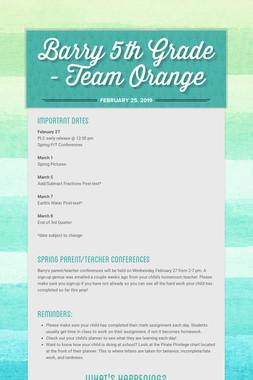 Barry 5th Grade - Team Orange