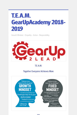 T.E.A.M. GearUpAcademy 2018-2019