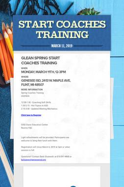START Coaches Training