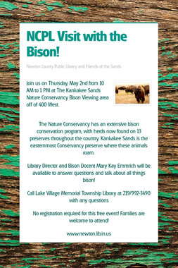 NCPL Visit with the Bison!
