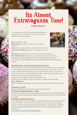 Its Almost Extravaganza Time!