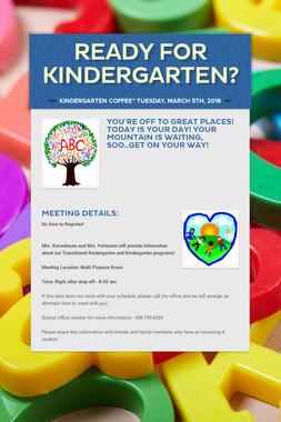 Ready for Kindergarten?